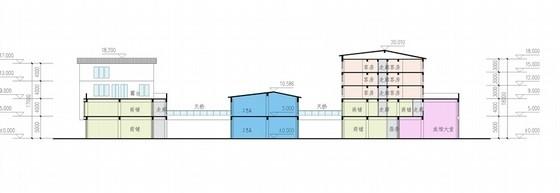 [浙江]现代风格多层旅游交通集散中心规划设计方案文本(两个方案)-现代风格多层旅游交通集散中心剖面图