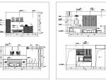 卧室经典分空间CAD立面图库