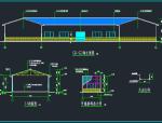 三角形钢屋架、钢管柱结构施工图