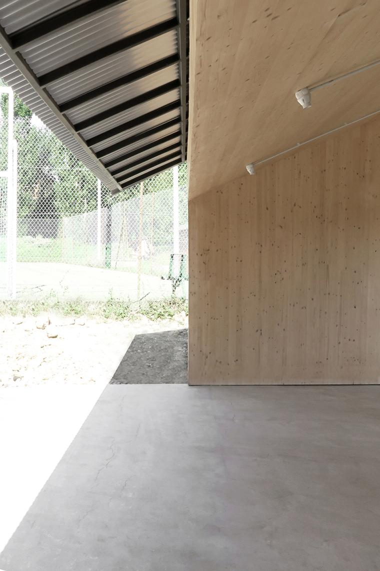 法国简洁木结构的学校食堂扩建-9