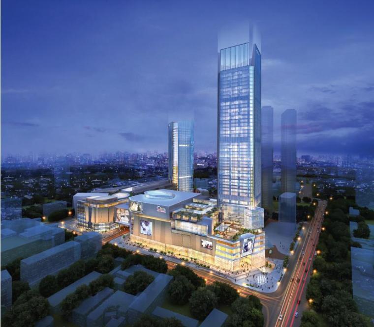 [河南]超高层知名地产商业综合体建筑设计方案文本(图纸超详细)