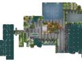 景观平面图|屋顶花园PSD彩色平面图素材(1)