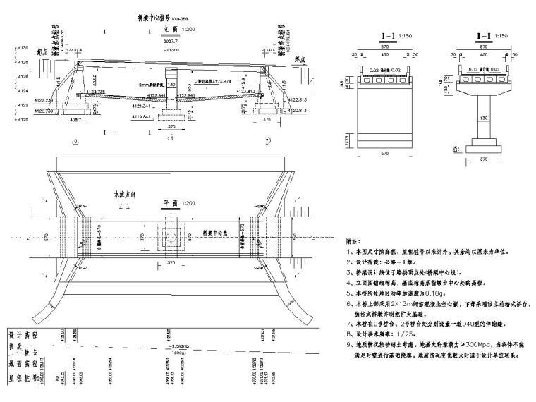 2-13m空心板小桥工程施工图设计