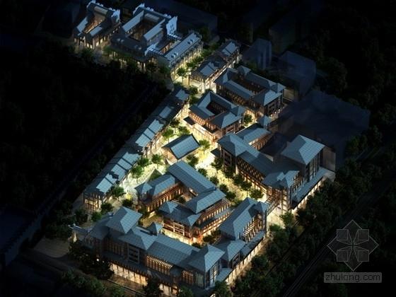 [合集]4套中式风格多层商业街建筑设计方案文本