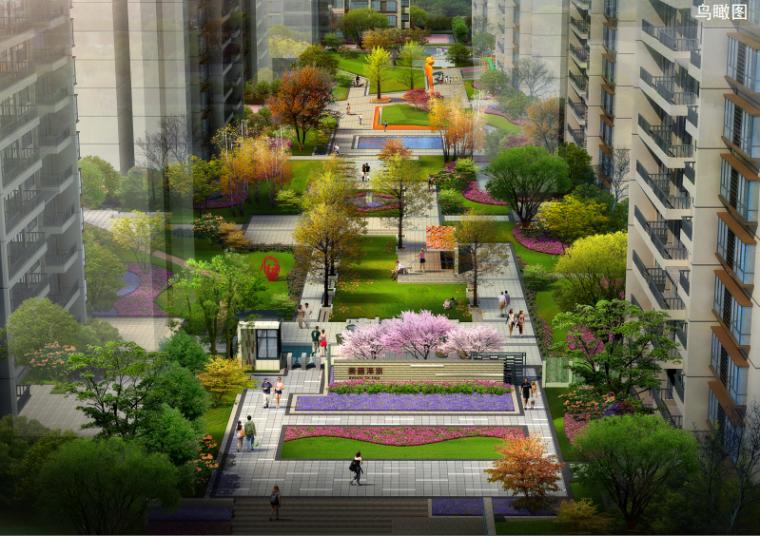 [重庆]时尚现代风格居住区景观规划方案