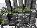 仿中式商业综合体建筑SU模型