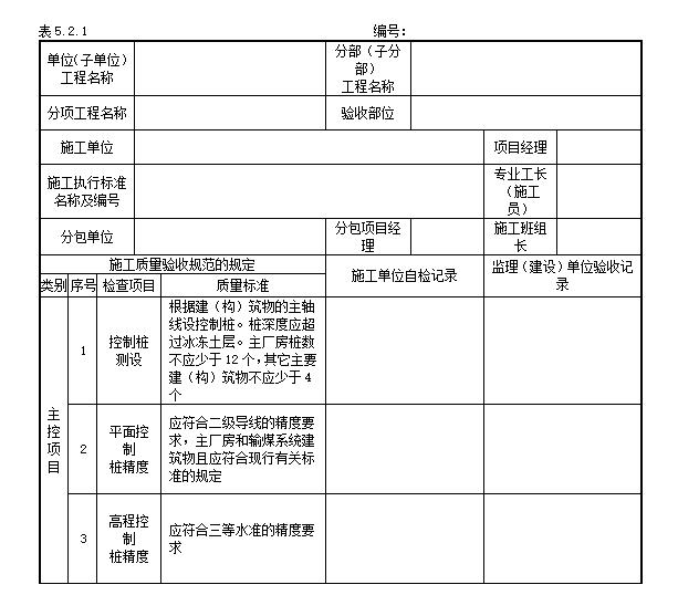 电力建设施工质量验收及评价规程全套验评表格word版102页