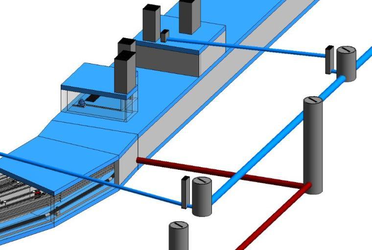 给大家分享一下杰图管廊连同管线一起导进revit后的效果