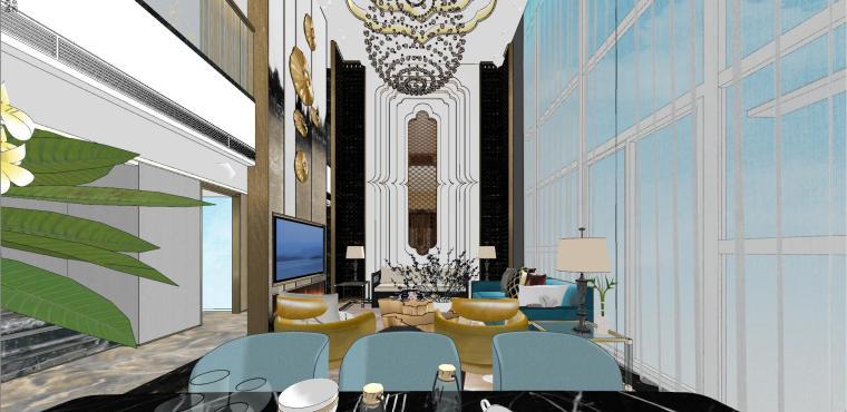豪华loft室内设计客餐厅模型设计(2018年)-X 16