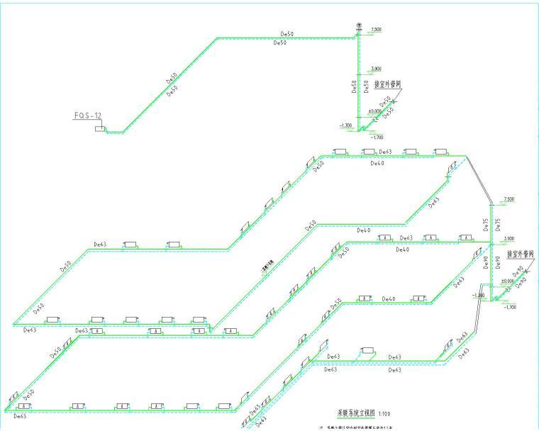 UPVC配件资料下载-市人大钢构加层水暖图纸(含采暖工程与给水排水工程)