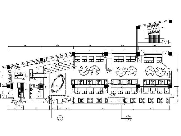 [武汉]时尚个性自助火锅店室内装修设计施工图(含效果图)
