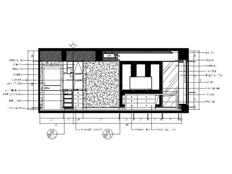 【重庆】新中式样板间设计CAD施工图(含效果图)_3