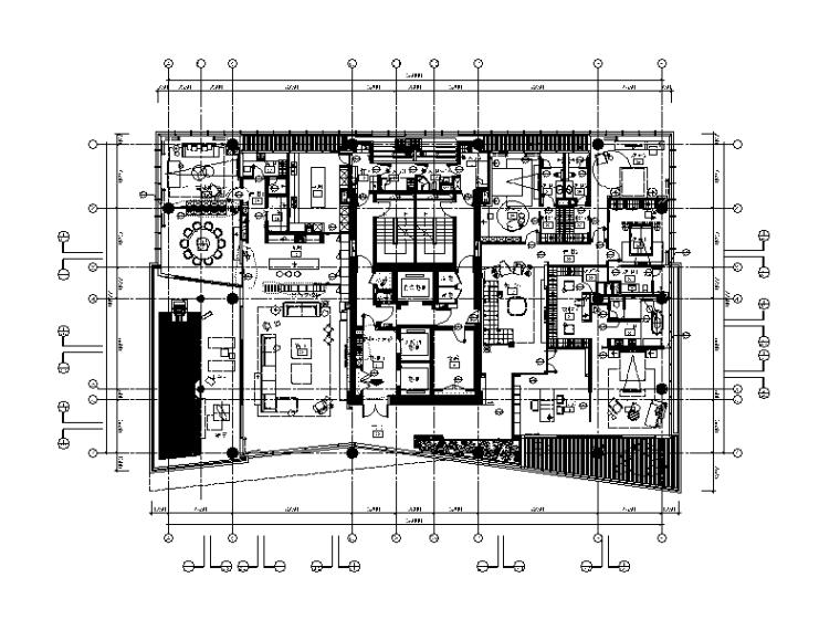 [广东]现代风格别墅大宅CAD施工图(含效果图)