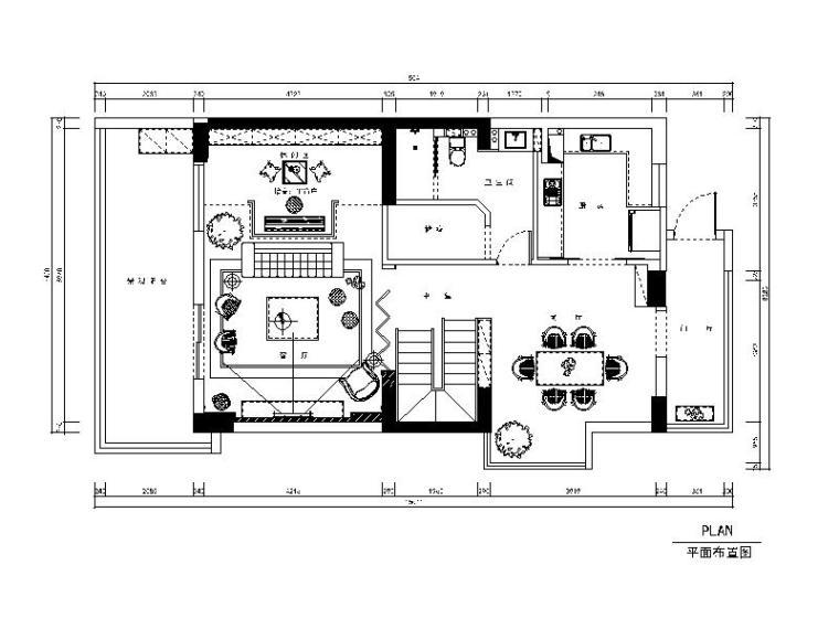 新中式复式楼设计cad施工图(含效果图)