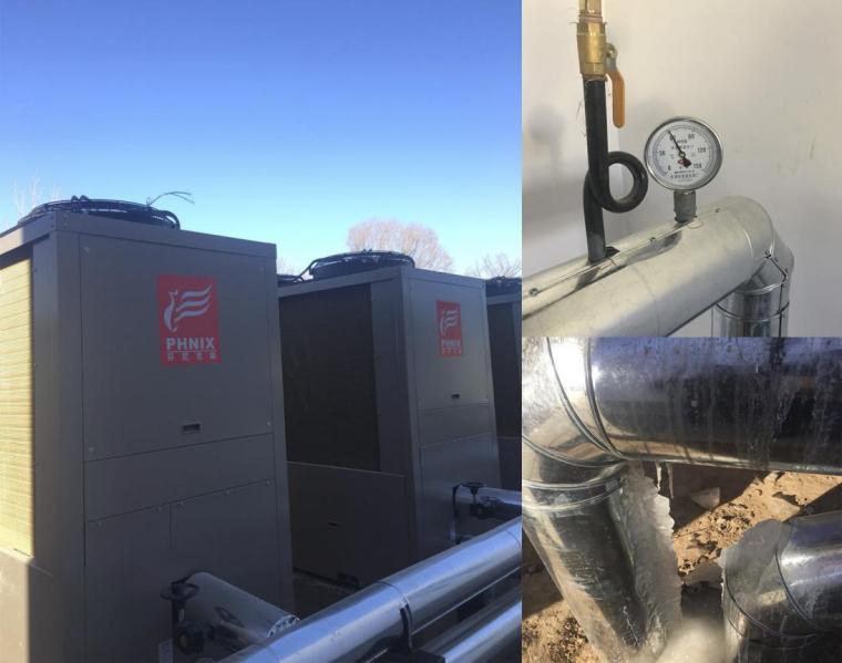 复叠式空气源热泵采暖热源工程