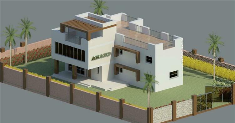 BIM模型-revit模型-二层独院别墅