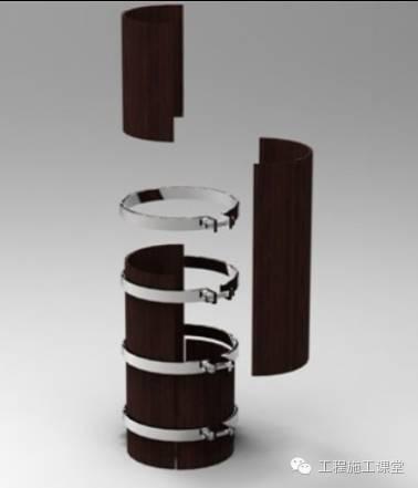 圆柱子加固施工方法