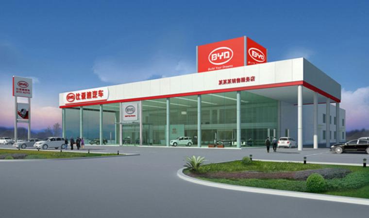 (原创)汽车4S店建筑外观设计案例效果图-4s店18