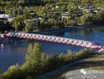 这座126米的螺管式大桥造3年,耗资1.5亿,美观经济难两全