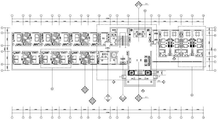 [湖北]某四星级宾馆室内装饰全套施工图(附效果图)