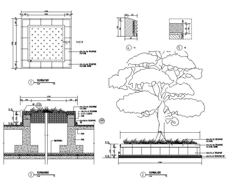 特色种植池详图