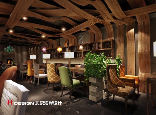 天津塘沽区咖啡厅设计案例_5