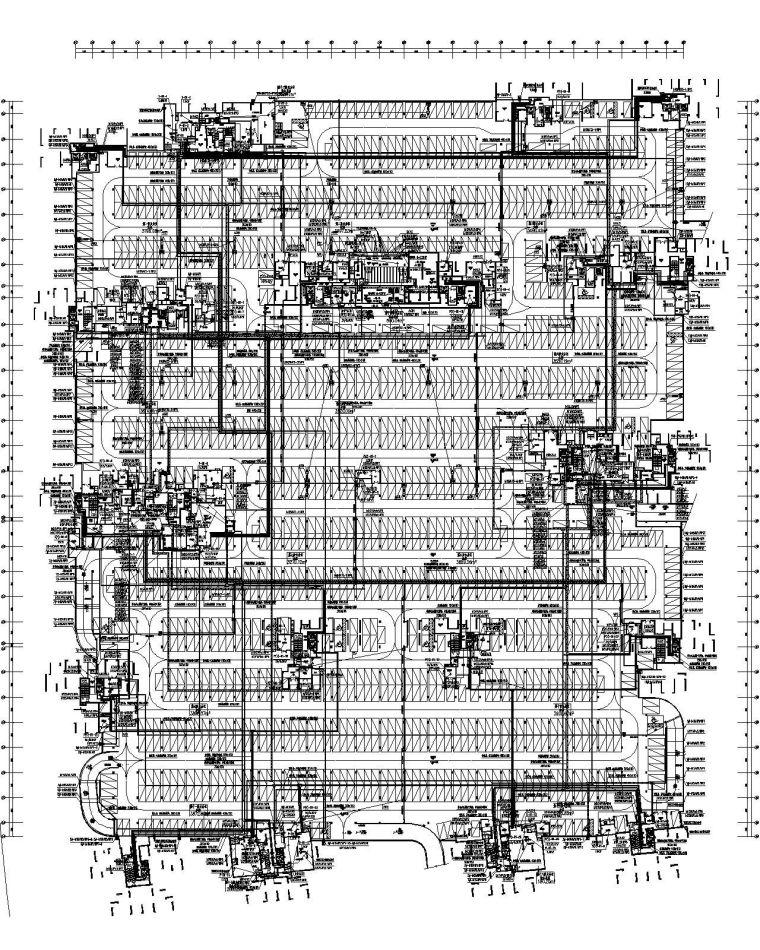[广西]33万平商业住宅小区强弱电施工图(含计算书节能表)