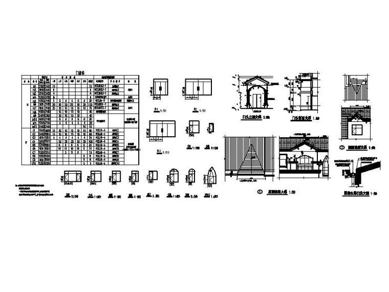 六层砖混结构新中式风格住宅建筑详图
