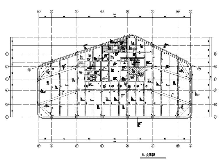 平涼街道框剪及框架結構商辦樓結構施工圖(2014)