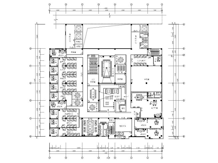 现代风格办公楼室内装修全套施工图(附效果图)