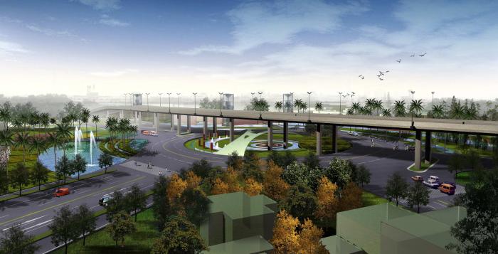 [江苏]生态绿地高速公路出入口景观规划设计方案