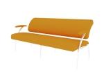 黄色休息沙发3D模型下载