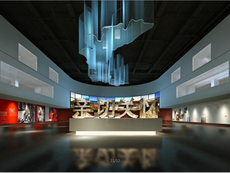 展览馆设计方案效果图(含3D模型)