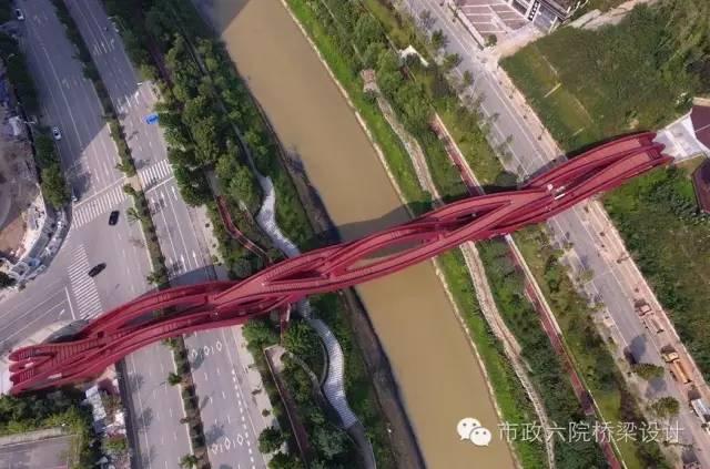 """长沙梅溪湖""""中国结""""步行桥_5"""
