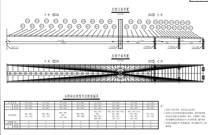 特大桥主跨658m双塔混合梁斜拉桥主桥结构图纸341张(公路桥涵设计规范JTJD60-2015)_3