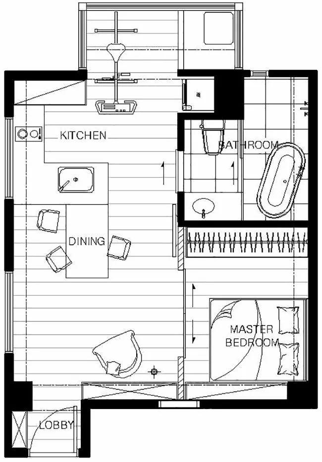 有了这40㎡的单身公寓,只想宅在家里撸猫_2