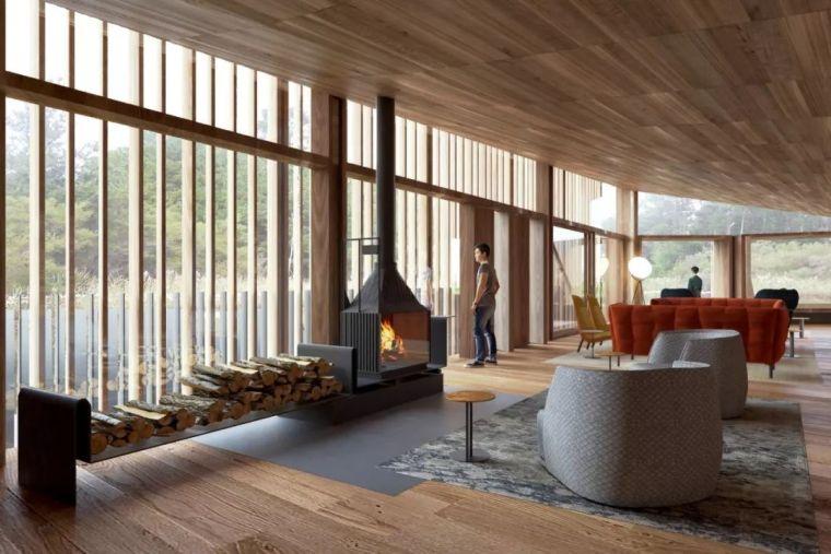 创意十足的顶级度假山庄设计,现代、自然、大气!_6