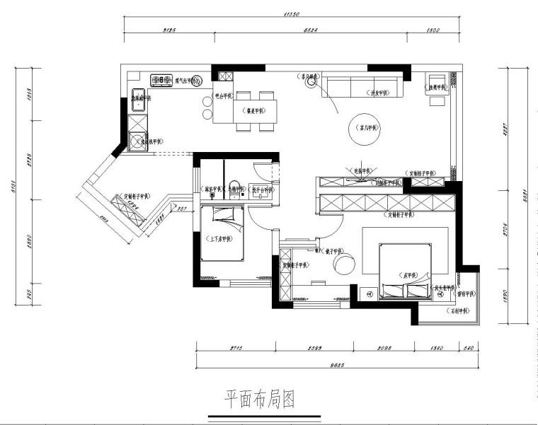 [案例鉴赏]96平米现代风格装修,造价10万-5