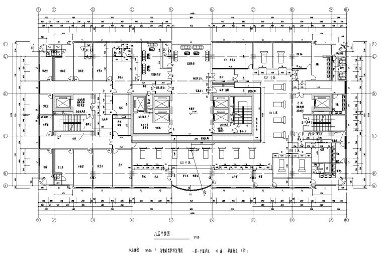 [广东]某二十层医院室内装修设计平面图