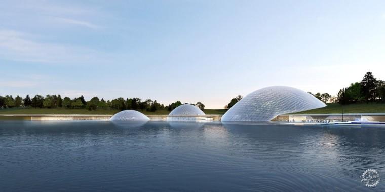 太原植物园的拱形温室