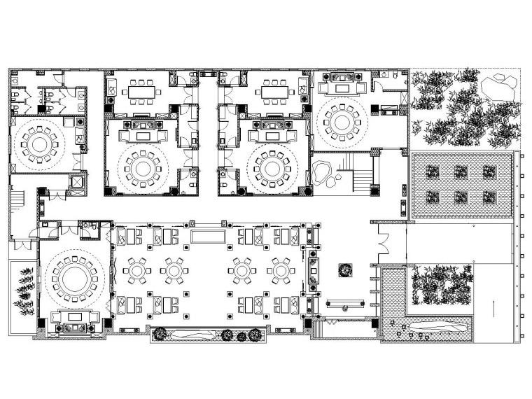 [河南]郑州苏园一号餐厅施工图设计(附高清效果图)