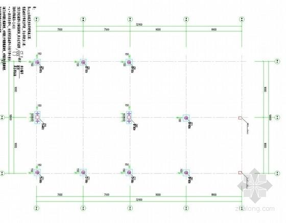 [广东]框架结构展览厅桩基础施工图