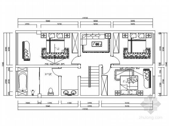 [云南]中式风格四层别墅室内装修设计CAD施工图