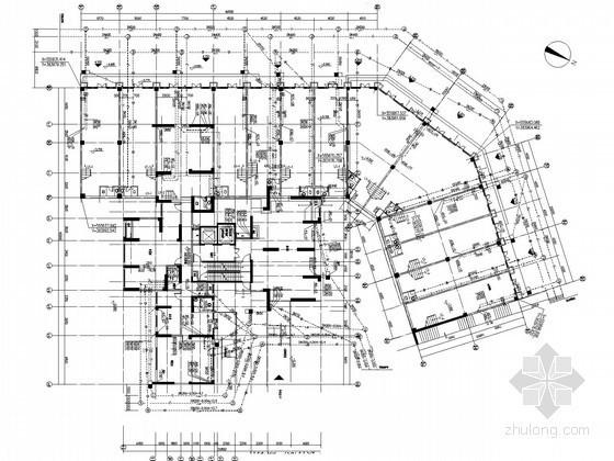 [广州]28栋多户型高档住宅楼建筑给排水施工全套图纸(含商铺 气体灭火)