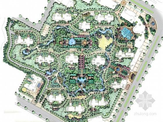 [台州]新古典混合型居住区景观规划设计方案