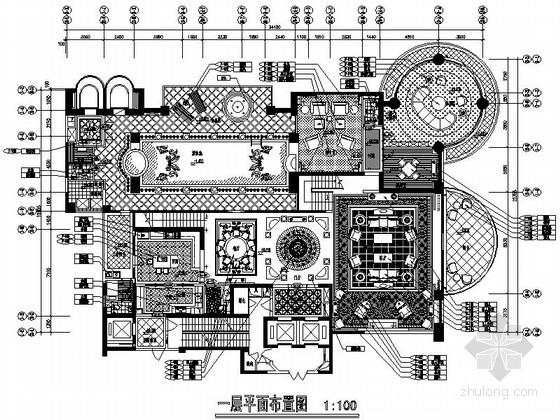 [原创]欧式古典别墅样板房施工图(含效果图)