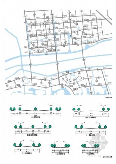 现代风格生态城市片区规划设计方案分析图