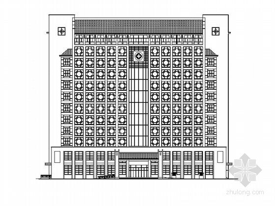 [河南]十二层徽派风格中医院建筑施工图(含效果图)
