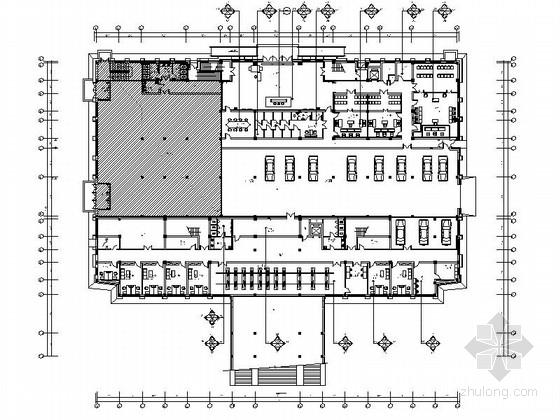 [吉林]经济技术开发区现代法院室内CAD施工图