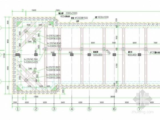 [湖北]地铁车站17米深基坑排桩结合三道内支撑支护施工图